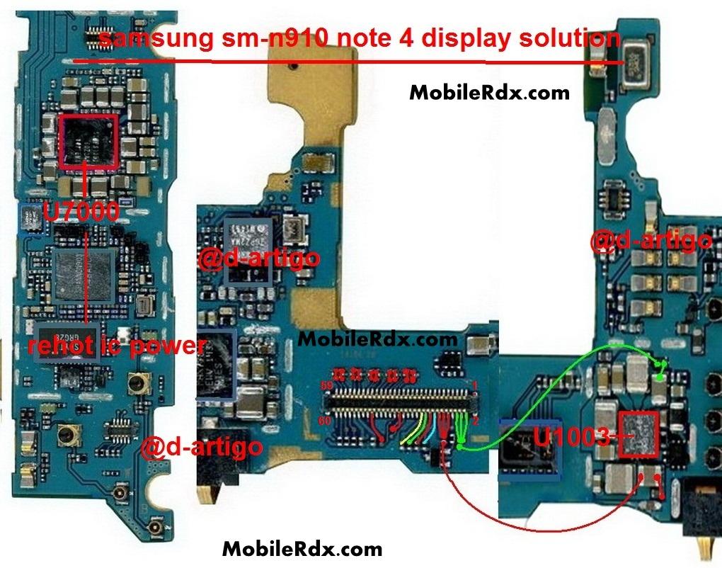 Samsung Galaxy Note 4 SM N910 Display Problem Repair Ways Solution