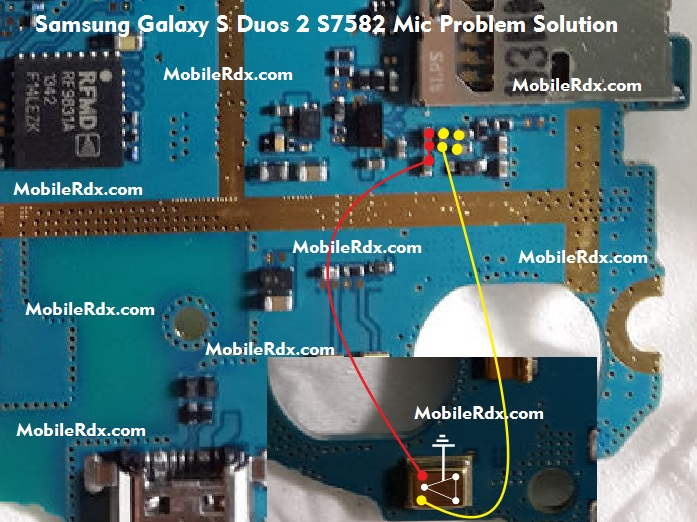 Samsung Galaxy S Duos 2 S7582 Mic Ways Problem Jumper Solution Micropohne - Samsung Galaxy S Duos 2 S7582 Mic Ways Solution Jumper