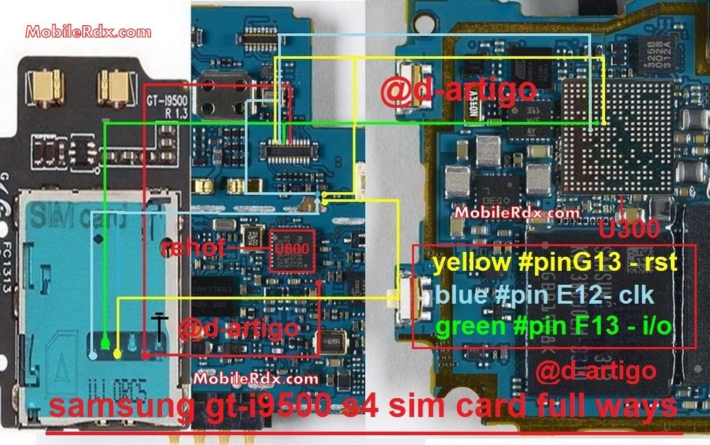 Samsung Galaxy S4 GT-I9500 Sim Card Ways Problem Jumper Solution