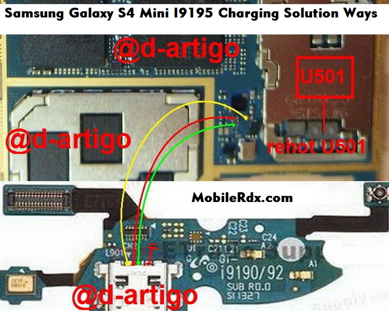 Samsung Galaxy S4 mini GT i9195 Charging Ways Solution Jumper Problem - Samsung S4 Mini I9195 Charging Solution Ways Repair Jumper