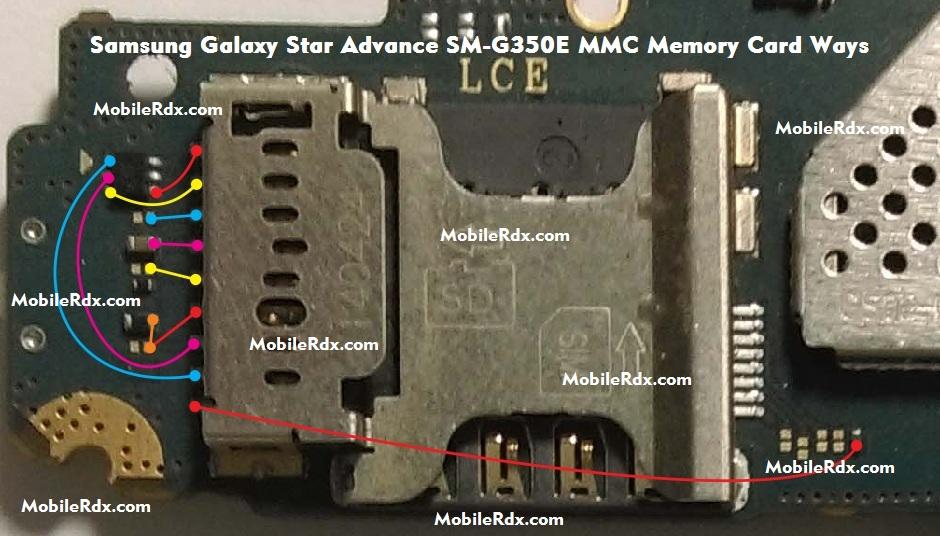 Samsung Galaxy Star Advance SM G350E MMC Ways Memory Card Problem Jumper Solution
