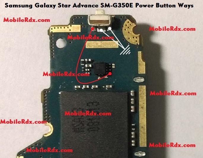 Samsung Galaxy Star Advance SM G350E Power Button Ways On Off Key Jumper