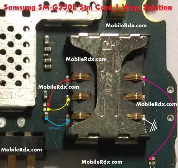 Samsung SM G350E Sim Card 1 Ways Jumper Ic Solution