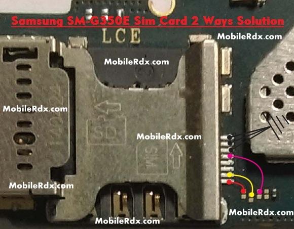 Samsung SM-G350E Sim Card 2 Jumper Ways Problem Solution