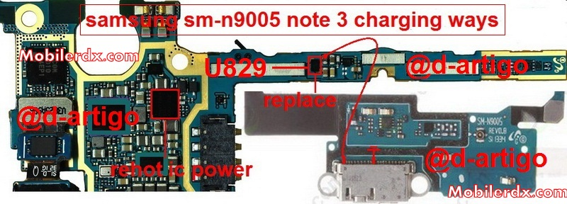 Samsung SM N9005 Note 3 Charging Ways Solution Problem Jumper - How To Fix Samsung SM-N9005 Charging Problem Issue