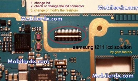 Samsung SM-T211 Display Ways Solution Lcd Ic Jumper
