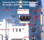 Samsung Star 3 Duos S5222 Speaker And Mic Problem Repair Ic Solution Ways