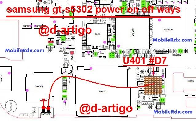 samsung gt s5302 power key ways on off switch jumper