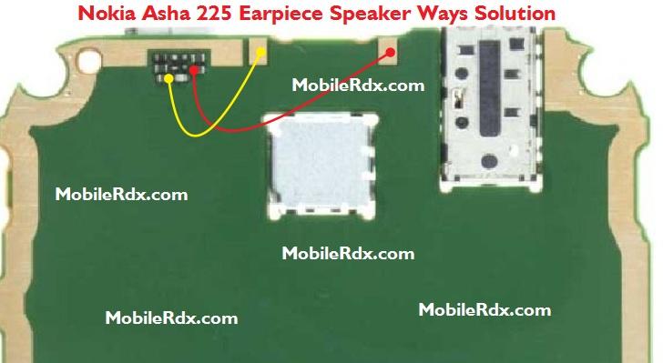 Nokia Asha 225 Earpiece Speaker Ways Jumper Solution