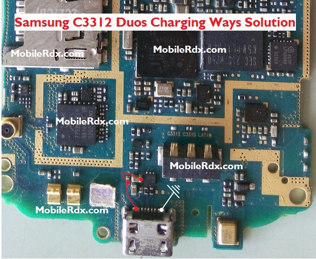 Samsung C3312 Duos Charging Ways Solution Jumper