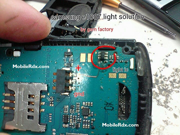 Samsung GT-E1087 Display Lcd Light Solution