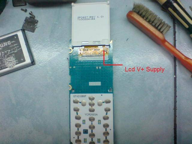 Samsung GT E1087 Lcd Jumper Display Light Ways - Samsung GT-E1087 Display Light Ways Problem Solution