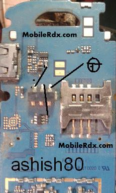 Samsung GT E1200T Battery Connector Jumper Ways