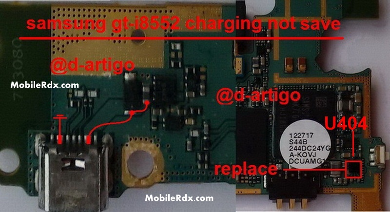 Samsung GT-I8552 Charging Ways Not Charging Solution