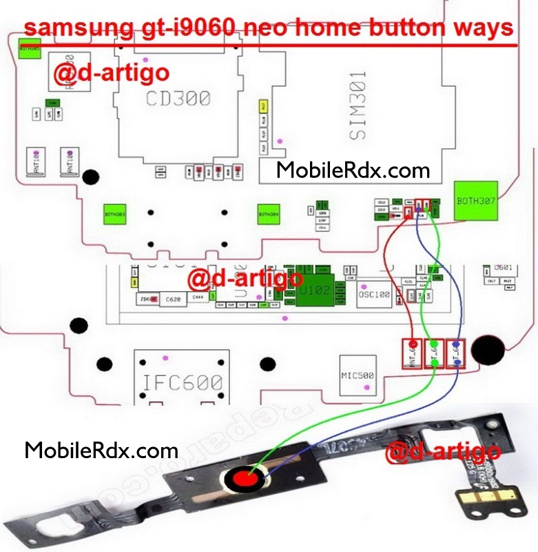 Samsung GT-I9060 Home Button Ways Problem Jumper