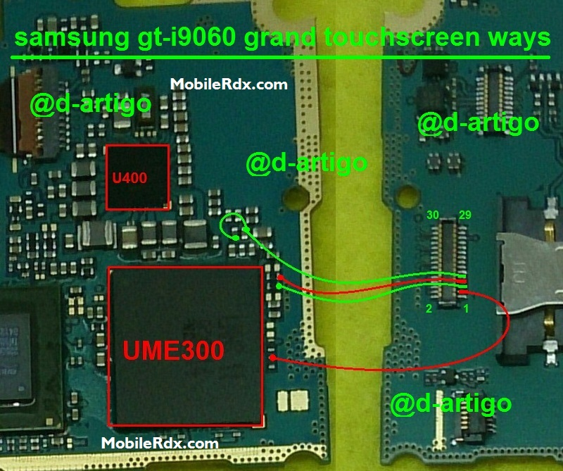 Samsung GT I9060 Touch Screen Ways Problem Jumper Solution - Samsung I9060I Touch Not Working Problem Jumper Solution