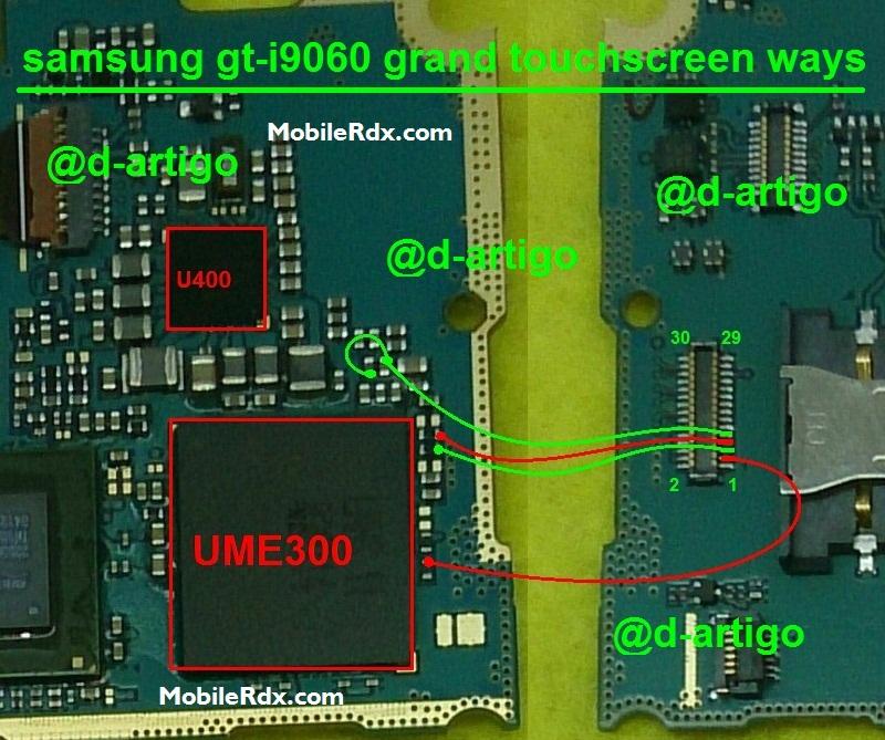 Samsung GT-I9060 Touch Screen Ways Problem Jumper Solution