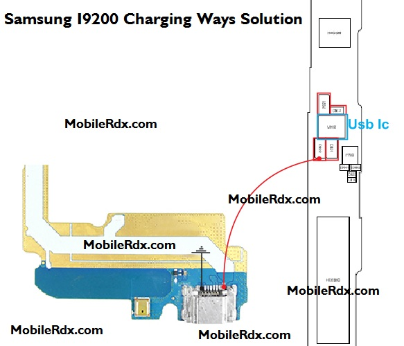 Samsung GT I9200 Charging Ways Solution Ic Jumper