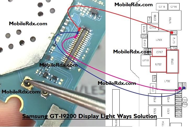 Samsung GT-I9200 Display Light Ways Solution Ic Jumper