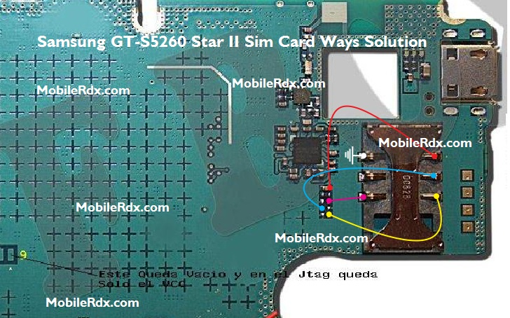 Samsung GT-S5260 Sim Card Ways Problem Jumper Solution