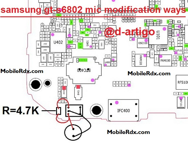 Samsung Galaxy Ace Duos S6802 Mic Ways Jumper Modification Solution