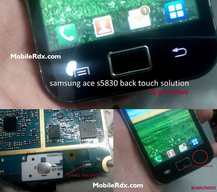 Samsung Galaxy Ace S5830 Back Key Problem Solution