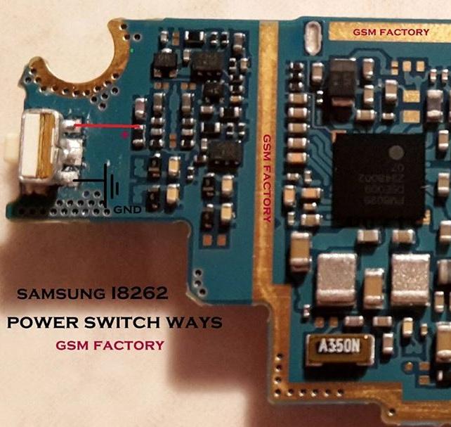 Samsung Galaxy Core GT-I8262 Power Key Ways Buton Jumper Solution