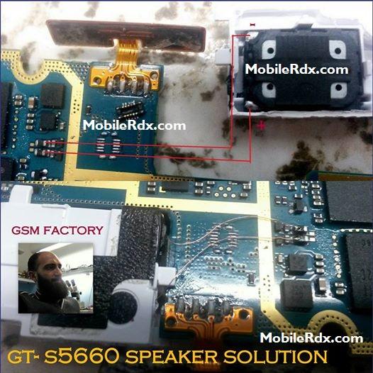 Samsung Galaxy Gio S5660 Speaker Ways Ringer Jumper Solution - Samsung Galaxy Gio S5660 Speaker Ways Ringer Jumper Solution