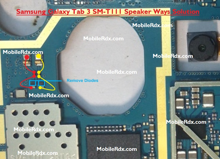 Samsung Galaxy Tab 3 SM-T111 Ringer Speaker Ways Problem Solution Jumper