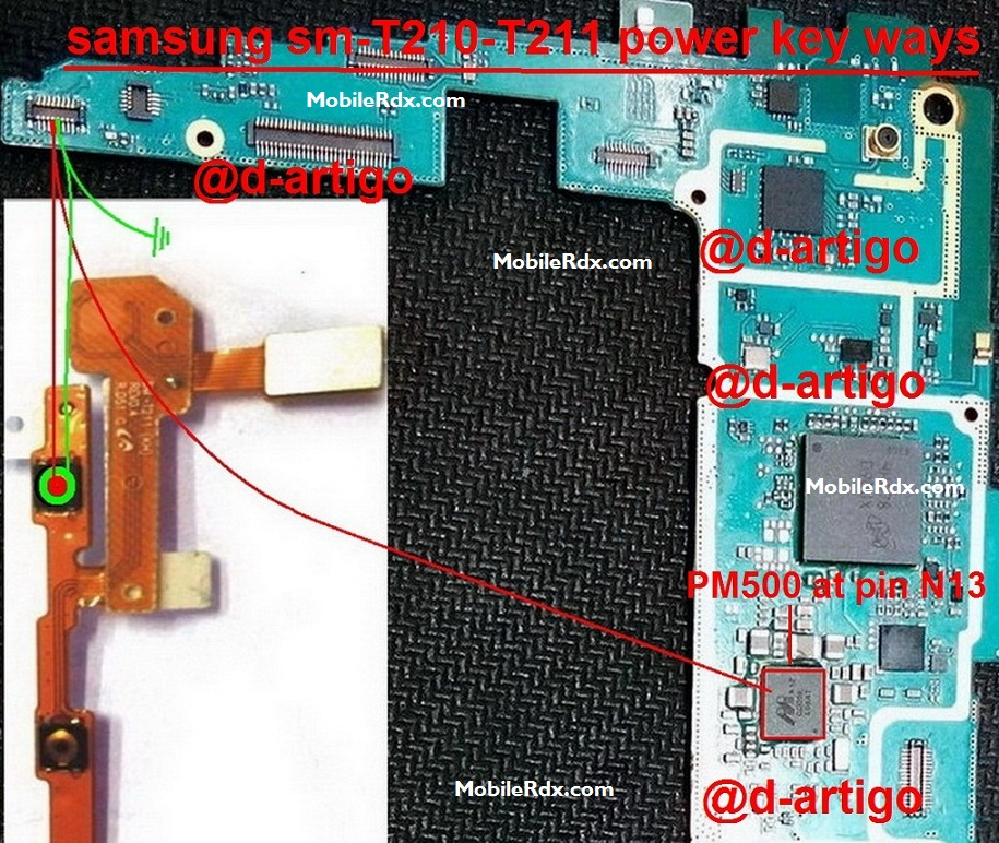 Samsung SM-T211 Power On Off Key Button Switch Jumper Ways