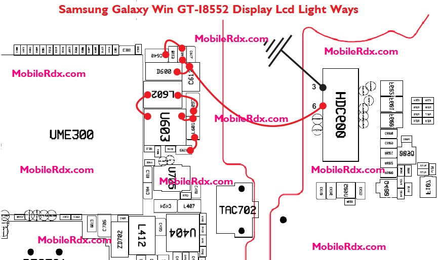 Samsung Galaxy Win GT I8552 Display Lcd Light Ways Jumper Solution - Samsung Galaxy Win GT-I8552 Display Light Ways Lcd Jumper