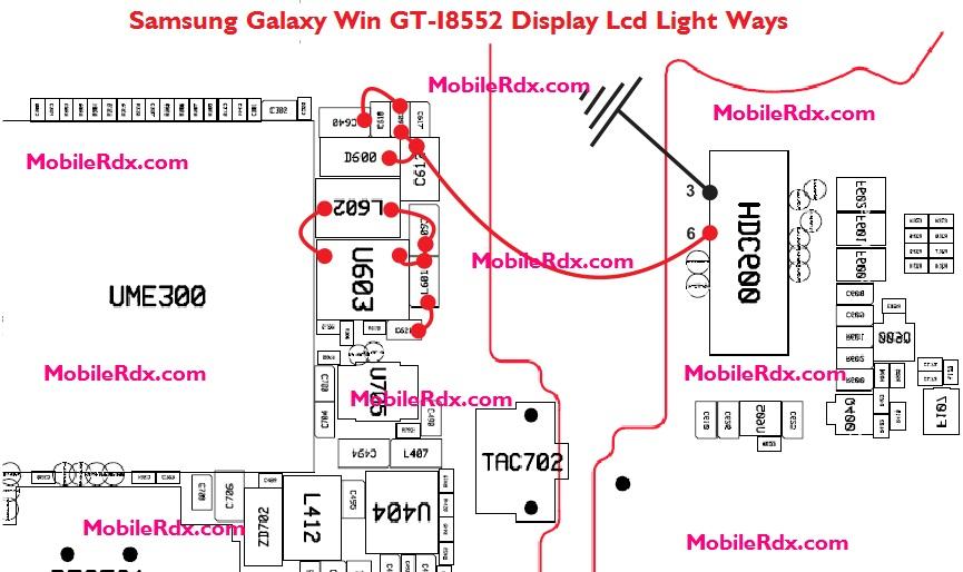 Samsung Galaxy Win GT-I8552 Display Lcd Light Ways Jumper Solution