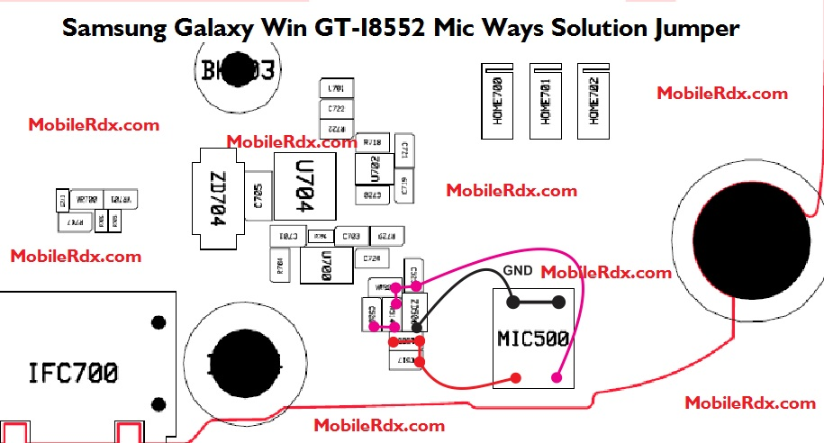Samsung Galaxy Win GT-I8552 Mic Ways Solution Jumper Microphone