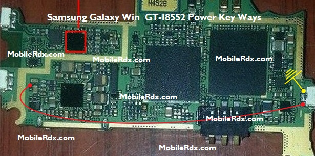 Samsung Galaxy Win GT i8552 Power Key Ways On Off Switch Jumper