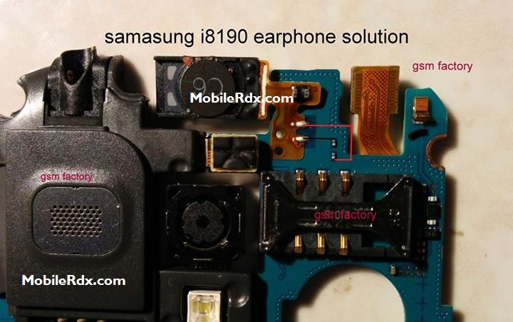 Samsung I8190 Earpiece Speaker Ways Jumper Solution