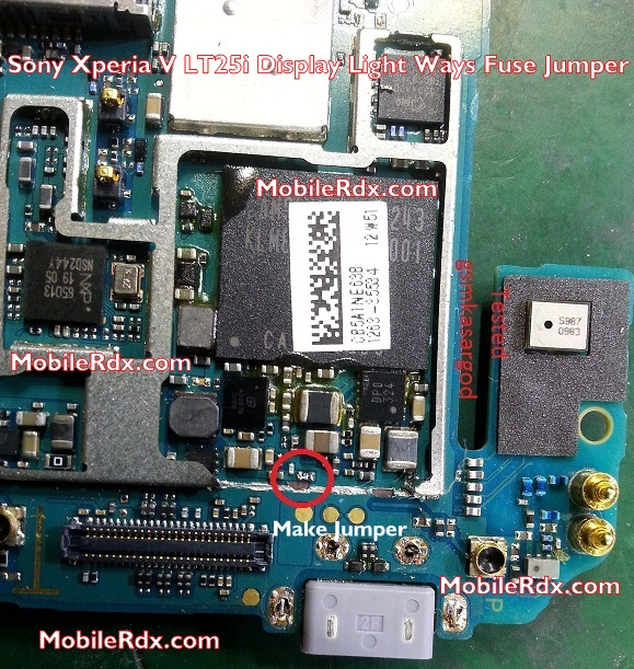 Sony Xperia V LT25i Display Light Ways Fuse Jumper