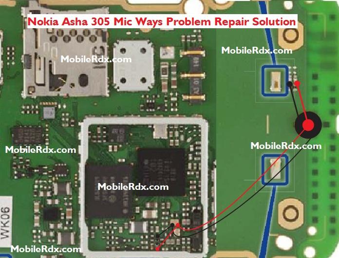 Nokia Asha 305 Mic Ways Solution Ic Problem Jumper