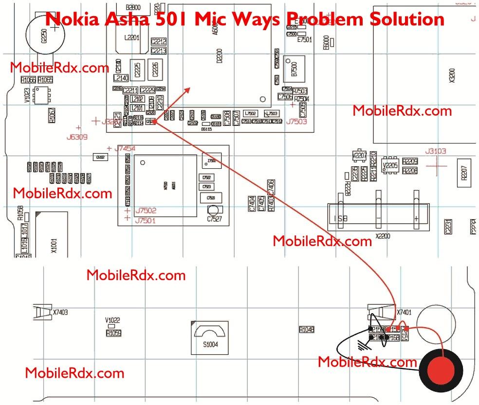 Nokia Asha 501 Mic Ways Solution Problem Jumper - Nokia Asha 501 Mic Ways Solution Problem Jumper