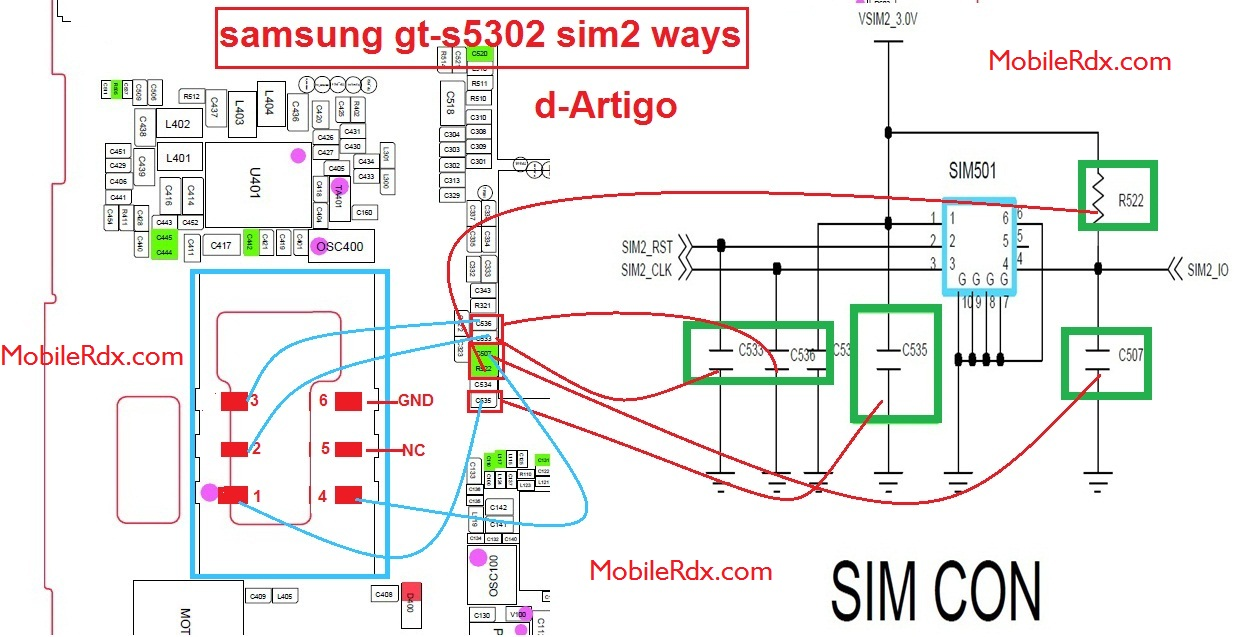 Samsung GT-S5302 Sim Card Problem Ways Solution Jumper