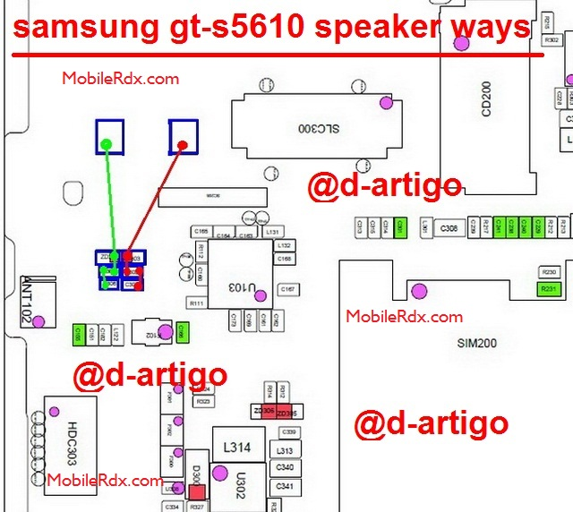 Samsung GT S5610 Speaker Ways Ringer Solution Jumper