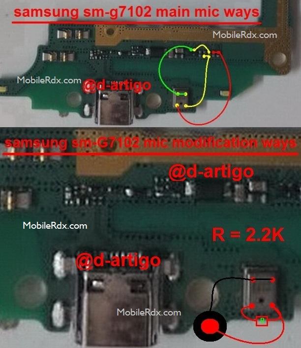 Samsung Galaxy Grand 2 G7102 Mic Ways Problem Jumper Modification Solution