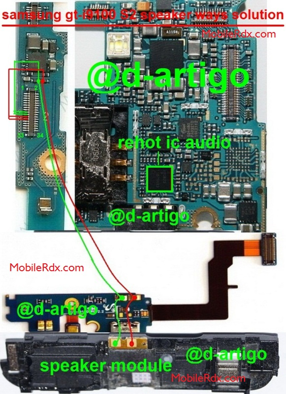 Samsung Galaxy S2 I9100 Speaker Ways Solution Jumper