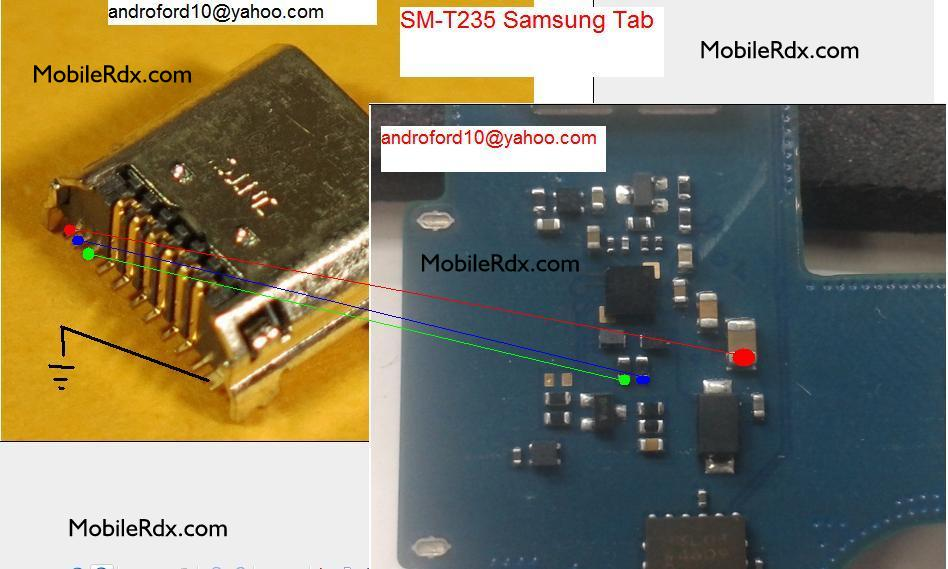 Samsung Galaxy Tab 4 T235 Charging Ways Solution Jumper