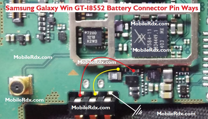 Samsung Galaxy Win GT-I8552 Battery Connector Pin Ways