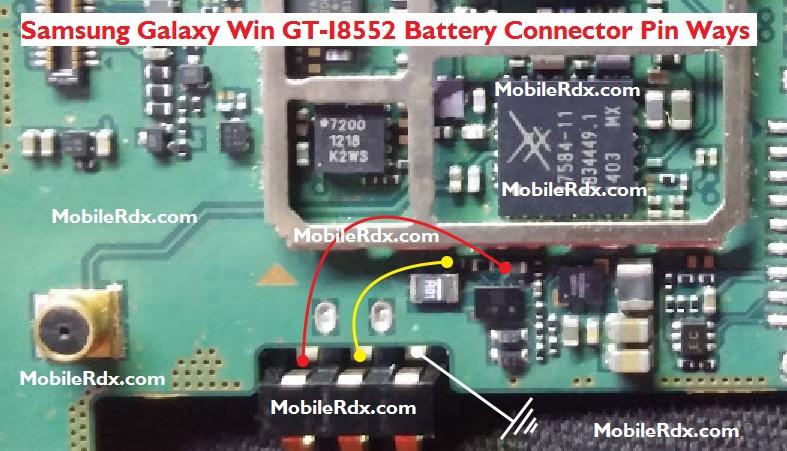 Samsung Galaxy Win GT I8552 Battery Connector Pin Ways