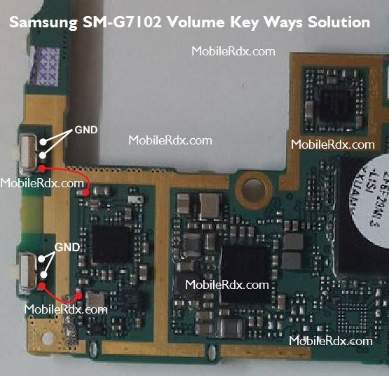 Samsung SM-G7102 Volume Button Ways Key Jumper  Solution