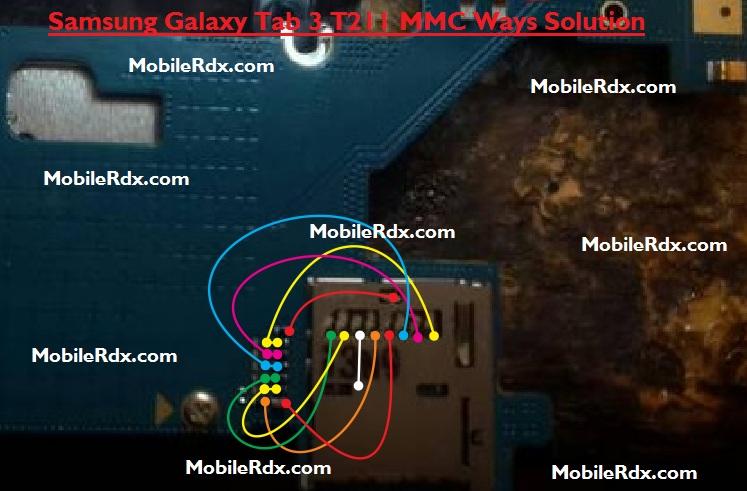 Samsung SM-T211 MMC Problem Ways Solution Jumper Memory Card