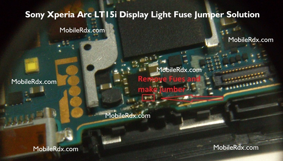 Sony Xperia Arc LT15i Display Light Solution Lcd Problem Jumper - Sony Xperia Arc LT15i Display Light Solution Lcd Jumper