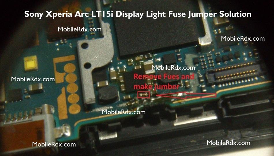 Sony Xperia Arc LT15i Display Light Solution Lcd Problem Jumper