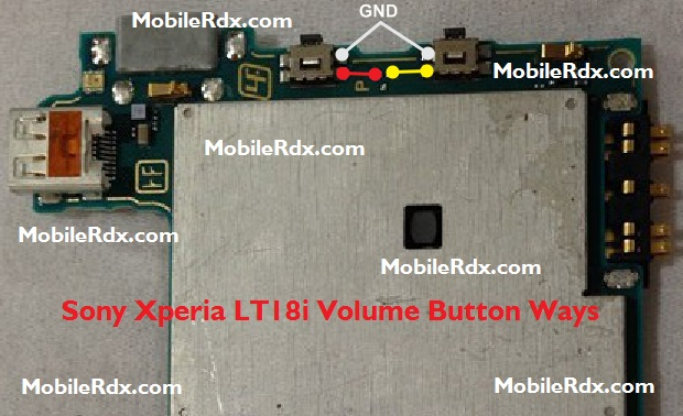 Sony Xperia LT18i Volume Button Ways Problem Jumper